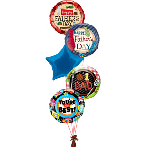 Five Father's Day Balloons (designs may vary) - only £32.99