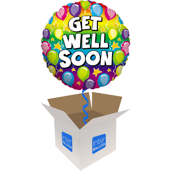 Get Well Soon Rainbow Balloons