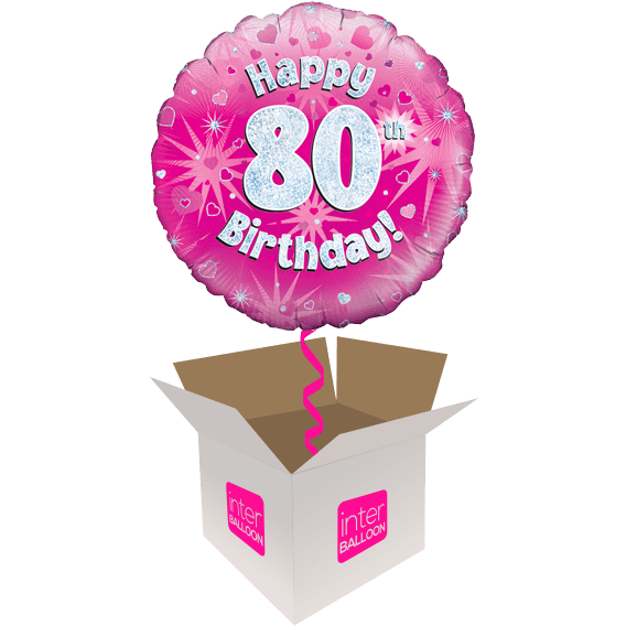 Happy 80th Birthday Pink Holographic