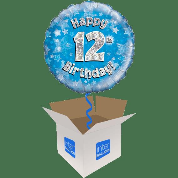 12th Birthday Blue Holographic