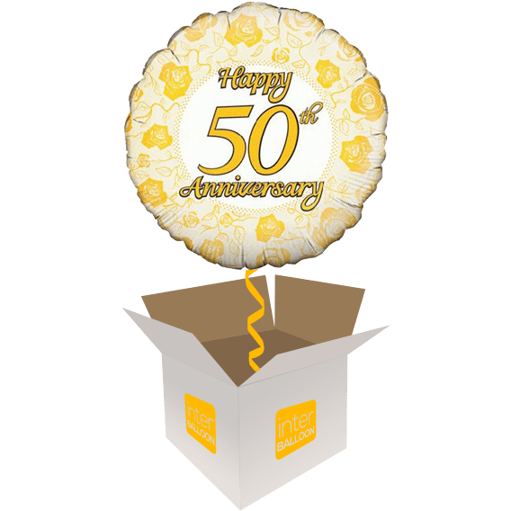 Happy 50th Anniversary Golden Roses