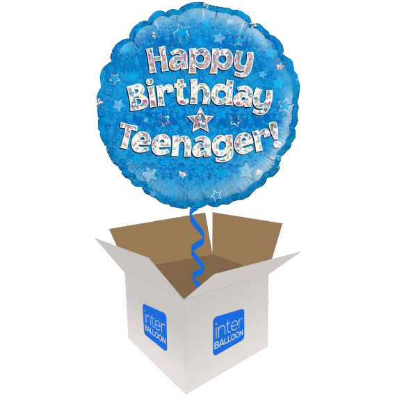 Happy Birthday Teenager Blue