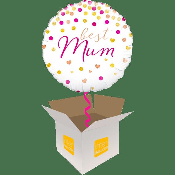Best Mum Confetti Hearts Circles