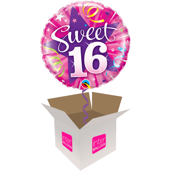 Sweet 16 Pink With Purple Star