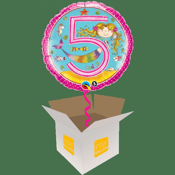 5th Birthday Pink Mermaid
