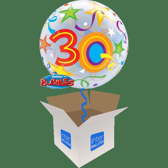 30th Birthday Balloons Say Happy 22 Brilliant Stars 30 Bubble