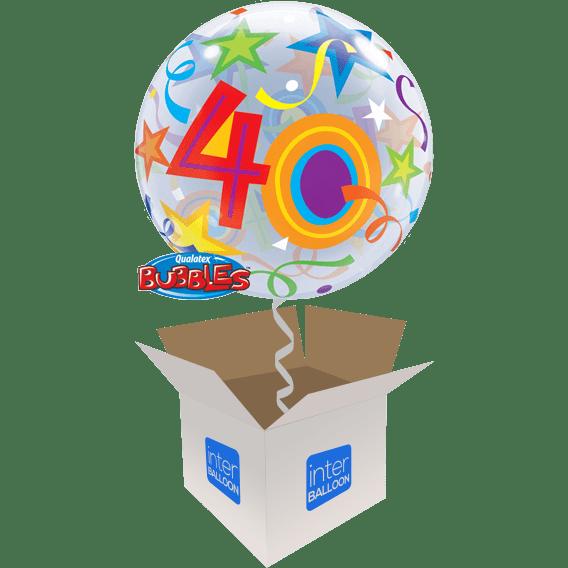 40th Birthday Balloons Say Happy 22 Brilliant Stars 40 Bubble