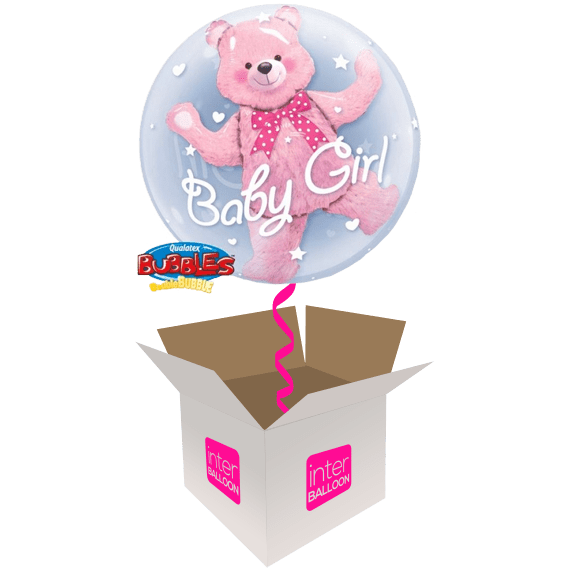 24″ Double Bubble Baby Girl Bear