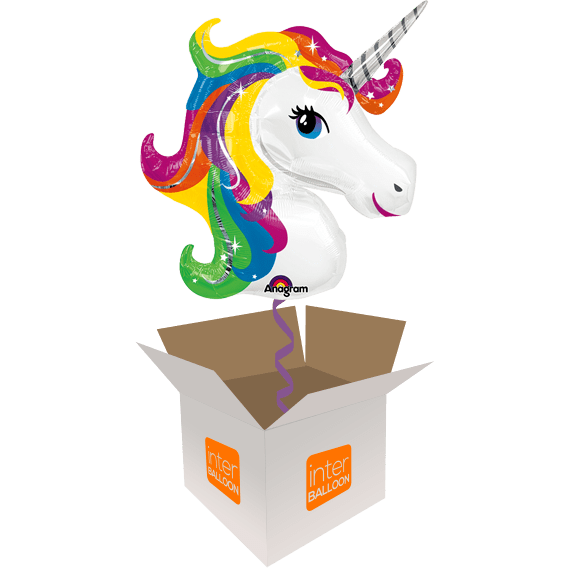 33″ Rainbow Unicorn Head