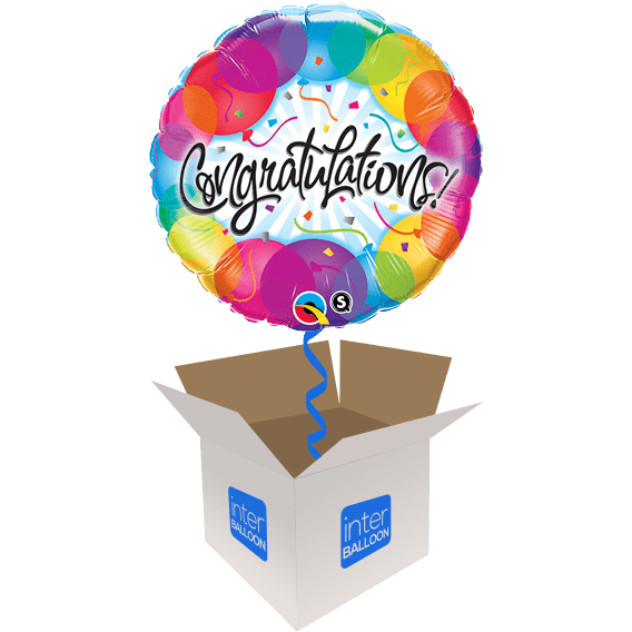 Congratulations Coloured Balloons