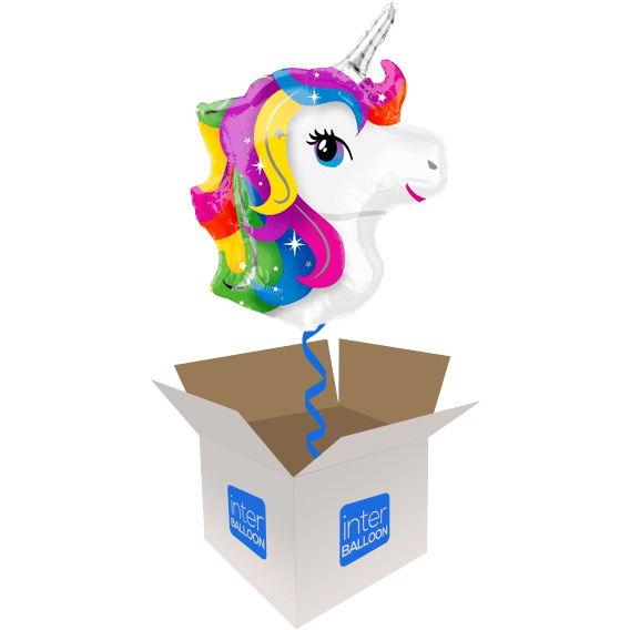 23″ Rainbow Unicorn Head