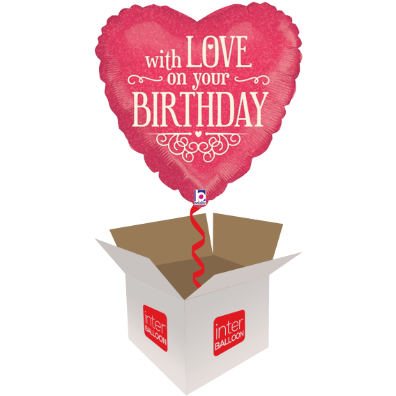 With Love on Your Birthday Heart
