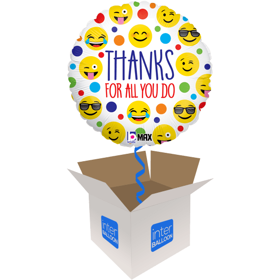 Thank You Helium Balloons Delivered In The UK By InterBALLOON