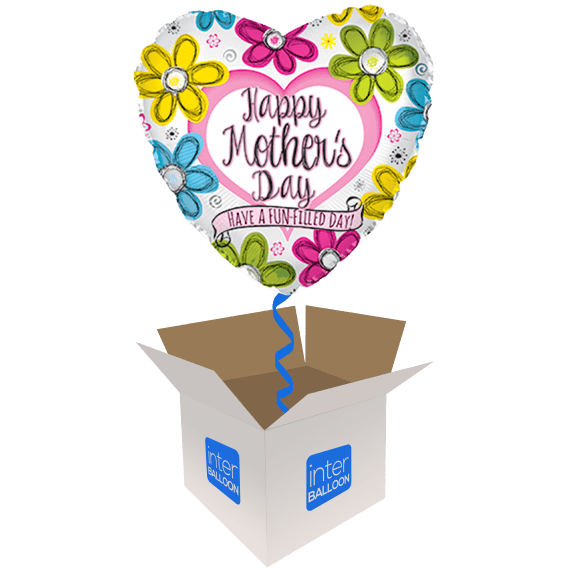 Mother's Day Drawn Flower Heart