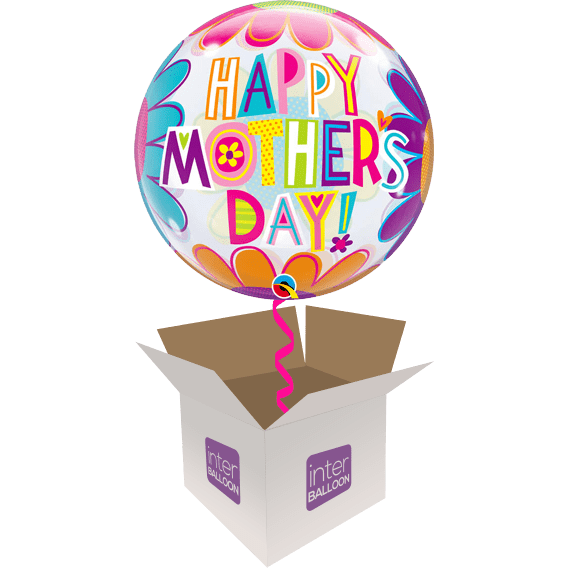 22″ Happy Mother's Day! Flower Bubble