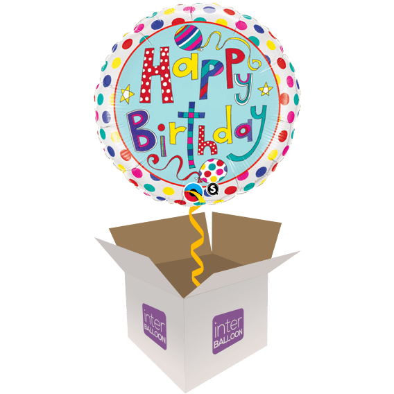 Colourful Happy Birthday With Polka Dots