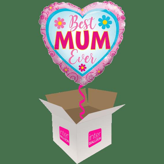 Best Mum Ever Floral Heart