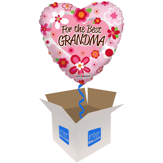 For The Best Grandma Flower Heart