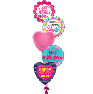 Five Mother's Day Balloons (designs may vary)