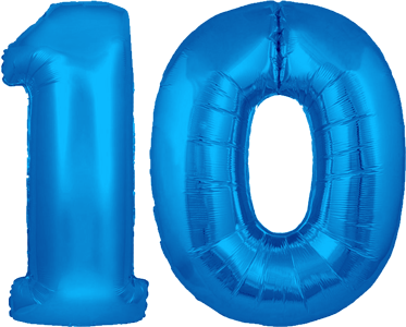 10th Birthday Helium Balloons Delivered In The UK By InterBALLOON