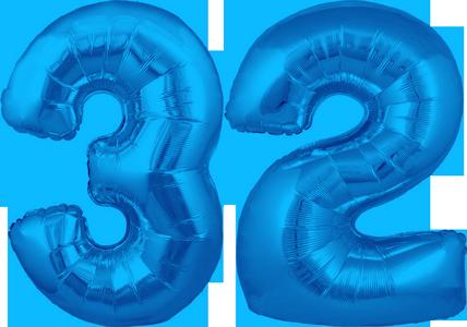 30 Blue No 32 Megaloon