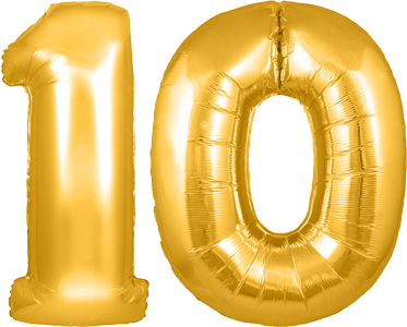 birthday number 10 png