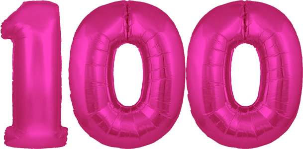 30″ Pink No. 100 Megaloon