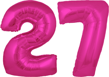 number 27 birthday png