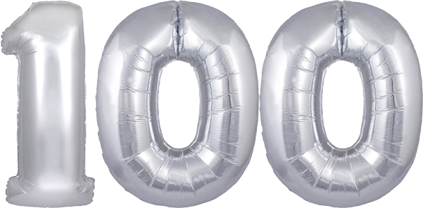 30″ Silver No. 100 Megaloon