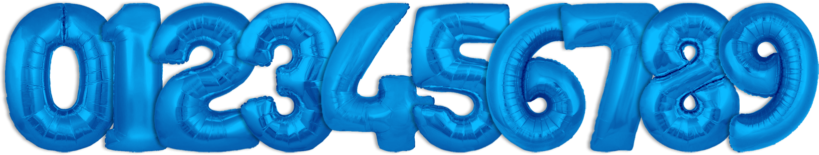 blue helium balloon numbers