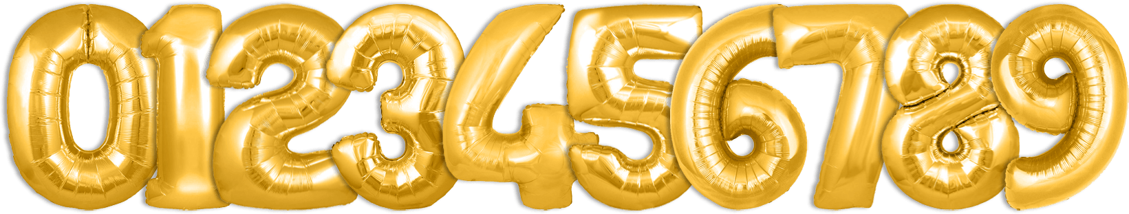 gold helium balloon numbers