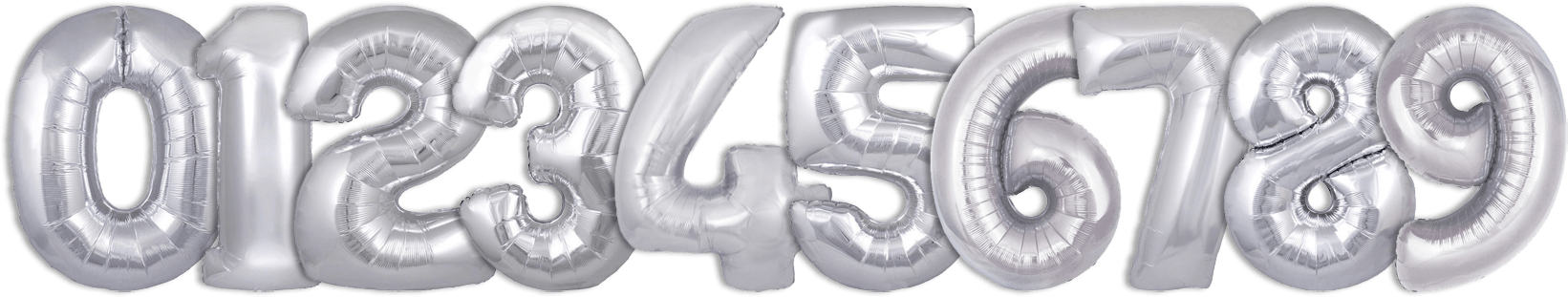 silver helium balloon numbers